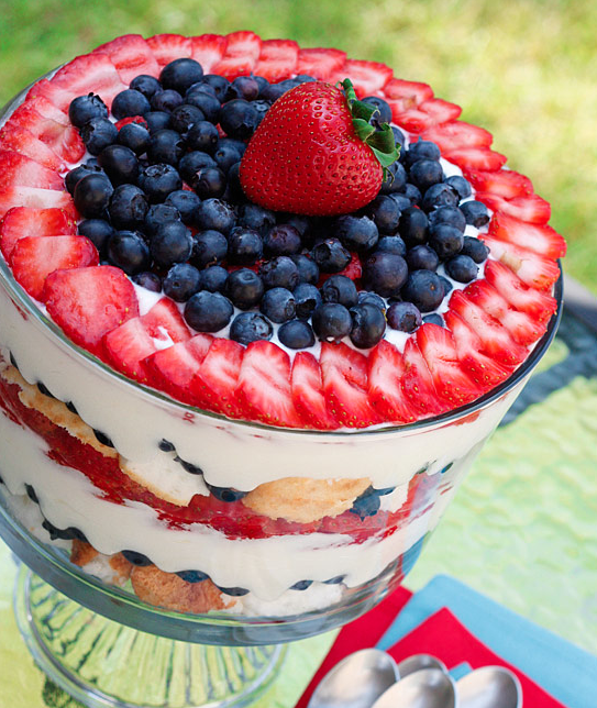 RED WHITE AND BLUEBERRY TRIFLE
